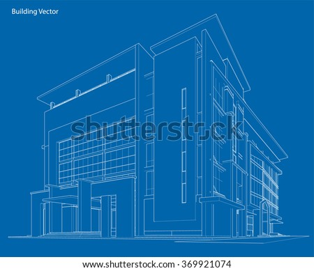 Building blueprint stock images royalty free images vectors abstract 3d wireframe of building my sketch design malvernweather Images