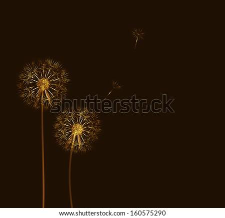 abstract dandelion background  vector illustration - stock vector