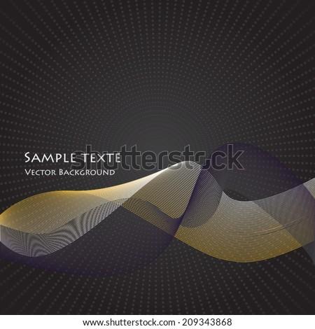 Abstract Dark Background Texture  - stock vector