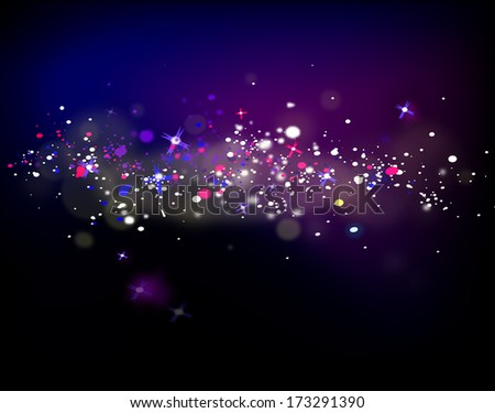 Abstract dark background with shining stars