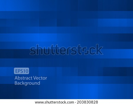 Abstract dark blue random pixel background - stock vector