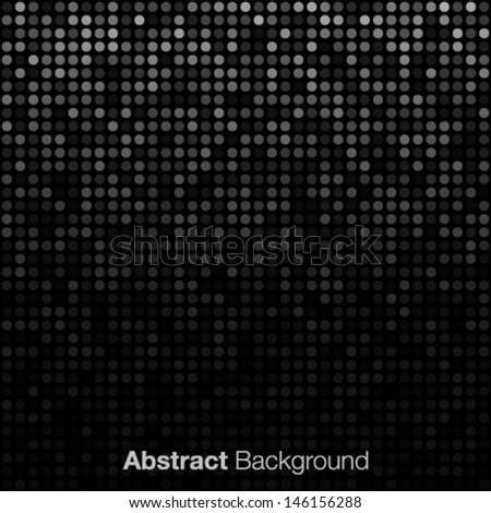Abstract Dark Gray Background, vector illustration  - stock vector