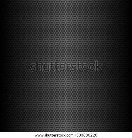 abstract dark hexagonal geometric background, vector illustration