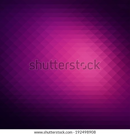Abstract dark purple background, geometric style design - stock vector