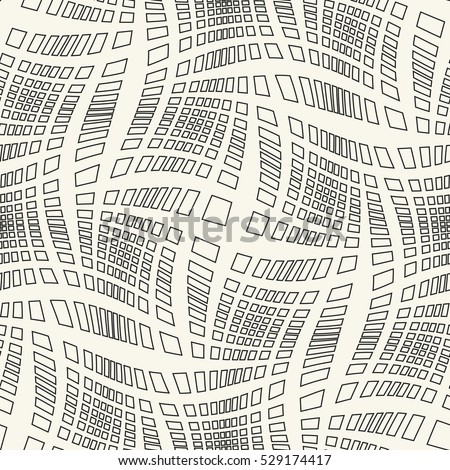 Abstract dashed  curved strokes textured background. Seamless pattern.