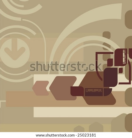 Abstract deco background, vector illustration series.