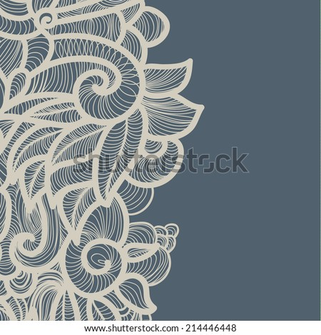 Abstract decoration, invitation card with ornate detailed ornament. Template frame design for card. Useful for packaging, invitations, decoration, bag template, etc - stock vector