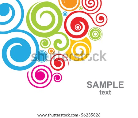Abstract decorative background - stock vector