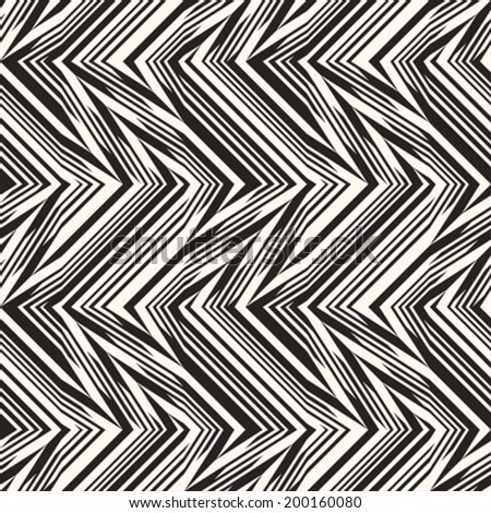 Abstract decorative broken striped textured background. Seamless pattern. Vector.