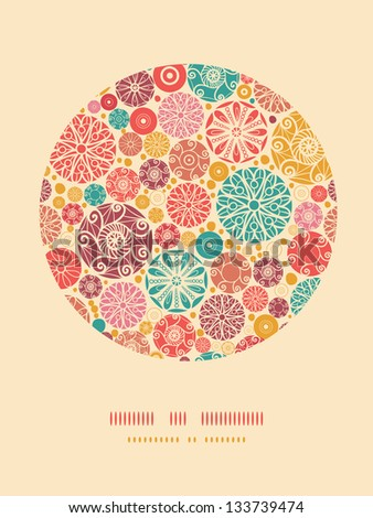 Abstract decorative circles oval decor pattern background