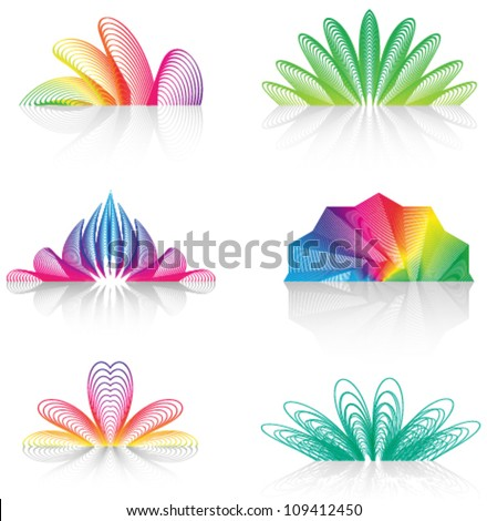 abstract decorative design elements, logo set, icon set (ideal for business icon) - stock vector