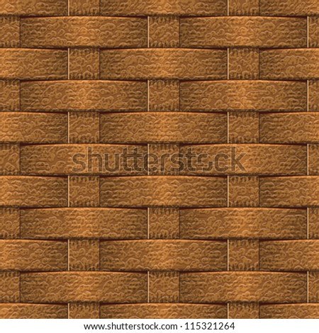 Abstract decorative leather textured basket weaving background. Seamless pattern. Vector. - stock vector