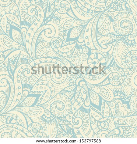 Abstract decorative seamless pattern - stock vector