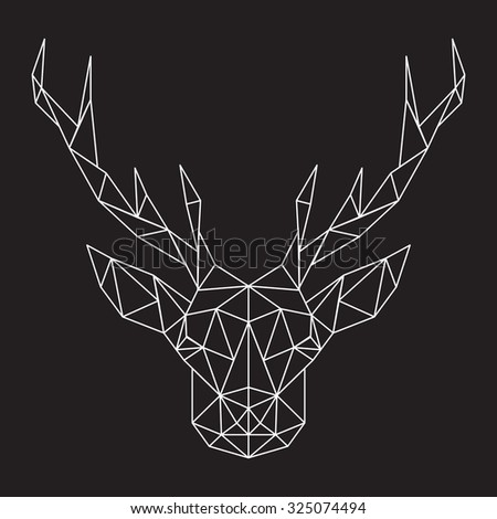 abstract deer - stock vector