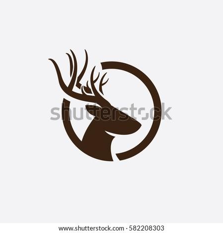 abstract deer head logo stock vector 582208303 shutterstock rh shutterstock com deer head outline logo deer head logo designs