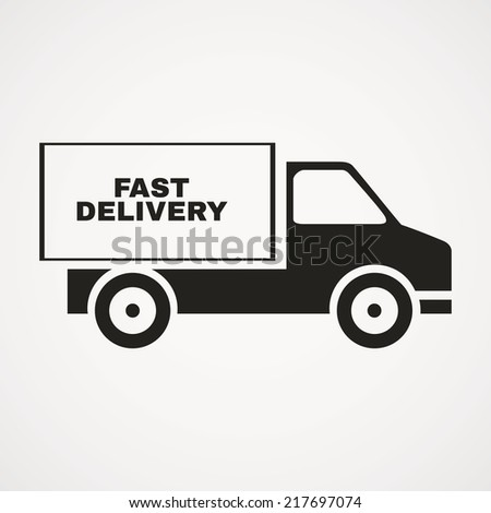 abstract delivery symbol on a white background