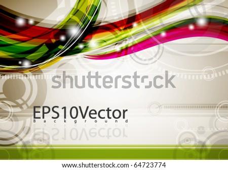 abstract design - stock vector