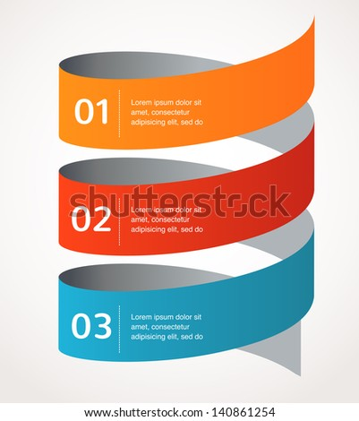 Abstract design and infographics, background, vector icon - stock vector