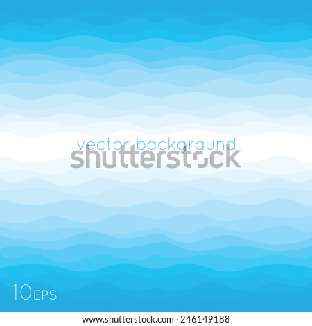 Abstract Design Background of Blue Waves - stock vector