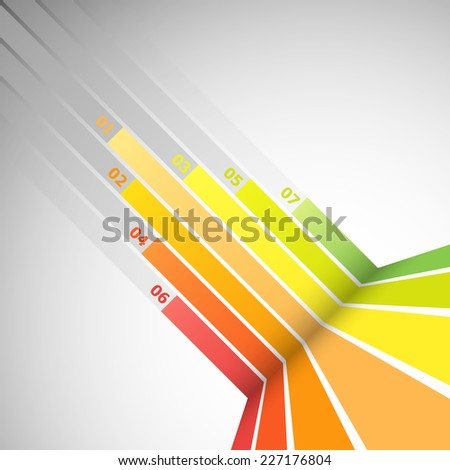 Abstract design banner with colorful lines, stock vector - stock vector