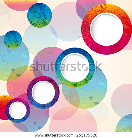 abstract design circles background. vector - stock vector