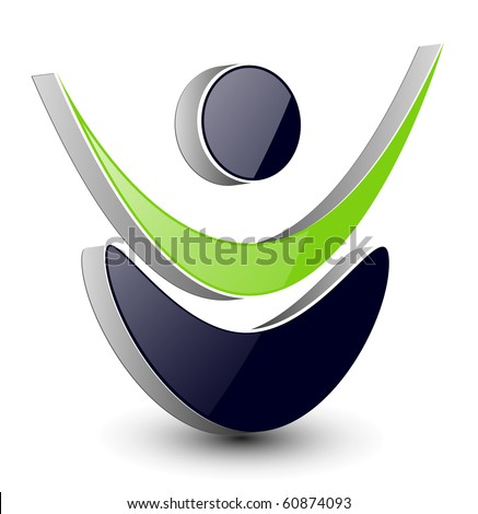 Abstract design, dynamic human shape, vector. - stock vector