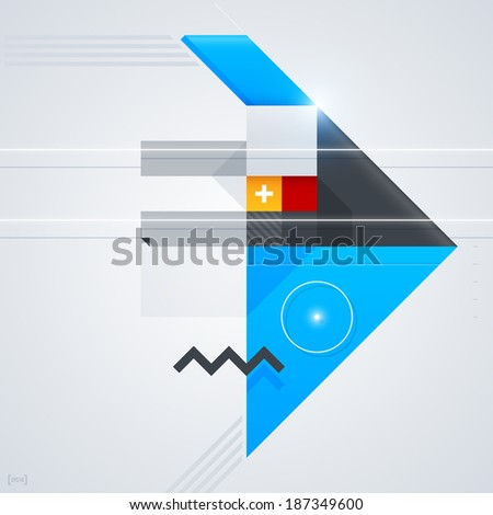 Abstract design element with glossy geometric shapes. Useful for digital compositions and layouts. EPS10 - stock vector