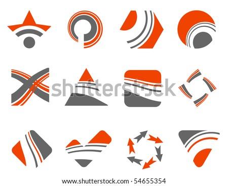 abstract design elements - vector set - stock vector