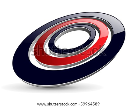 Abstract design, glossy ellipses, vector.