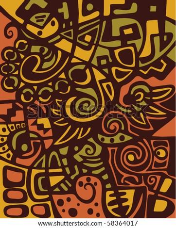 Abstract design, mosaic texture. - stock vector