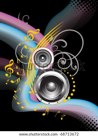 abstract design musical background with musical instrument