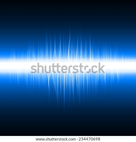 abstract design of blue magic lines.(sound effect version)