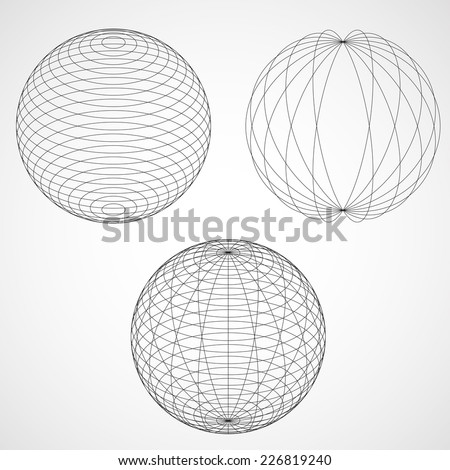 Abstract Design Sphere. Vector illustration - stock vector