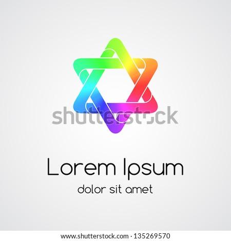 Abstract design symbol - stock vector