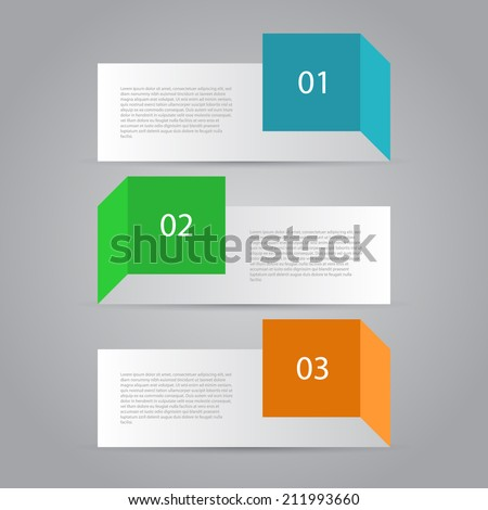 Abstract Design Template / Numbered Banners. - stock vector