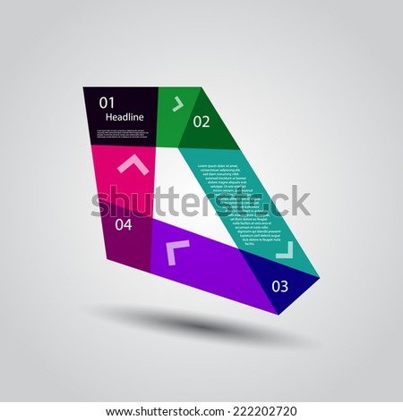 Abstract Design template / procedure steps / numbered banners.  - stock vector