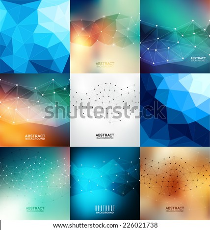 Abstract Design Template Set - stock vector
