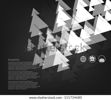 Abstract Design Triangle Shapes Background