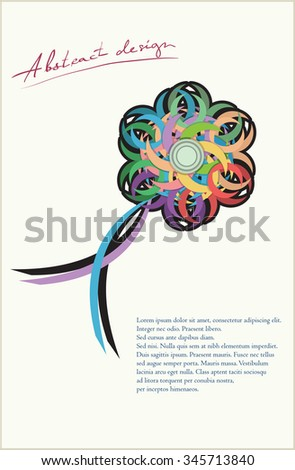 Abstract design vector can be used stock vector 345713840 shutterstock can be used in different ways background greeting and m4hsunfo
