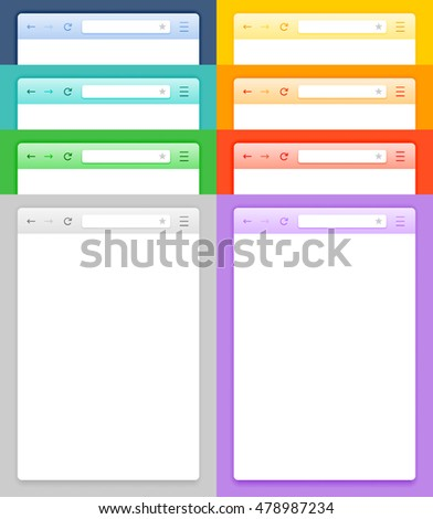 Abstract Design Vector Smartphone Browsers. Abstract Vector Browser Set. Vector Browser Image Set. Vector Browser Set Illustration. Flat Vector Browser Set. Set of Applications Vector Browser.