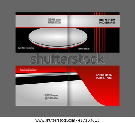 Abstract design vector template for brochure flyer cover poster in A4 size