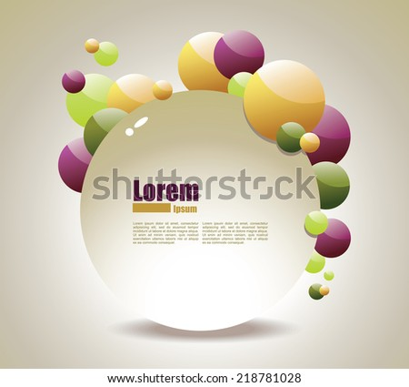 Abstract design with bubbles - stock vector