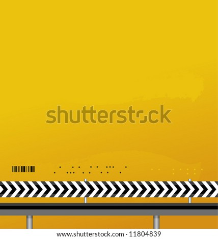 abstract design yellow-black background vector