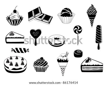Abstract desserts design vector - stock vector