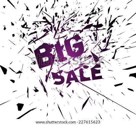 Abstract destroy lines / explosion background big sale, clean and modern style design. Vector eps 10