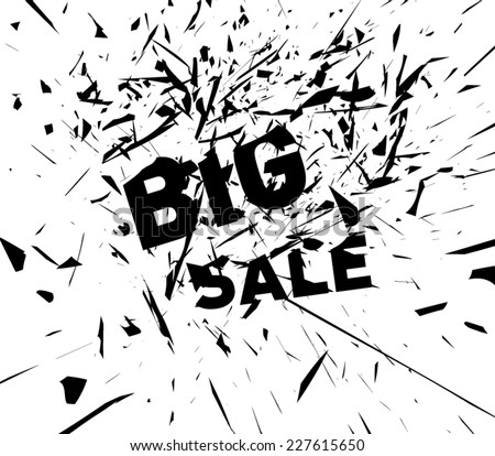 Abstract destroy lines / explosion background big sale, clean and modern style design. Vector eps 10  - stock vector