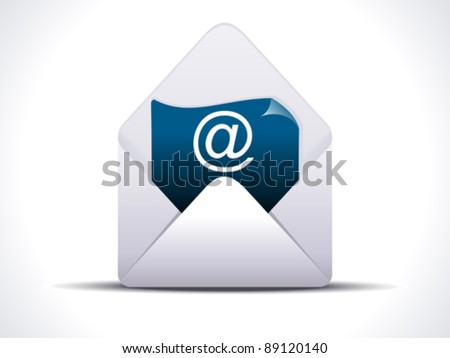 abstract detailed mail icon vector illustration - stock vector