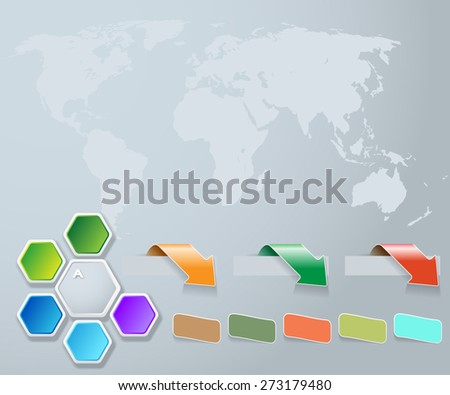 Abstract Diagram, Web Design. Infographic. Vector illustration.  - stock vector