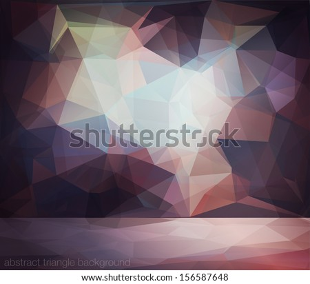 Abstract diamond background for design with lights - stock vector