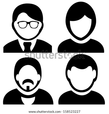 abstract different  people icons on white background